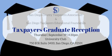 2019 Taxpayers Graduate Reception tickets