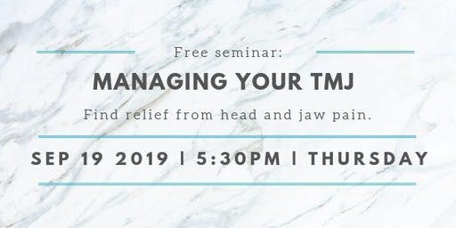 Managing Your TMJ: find relief from head and jaw pain