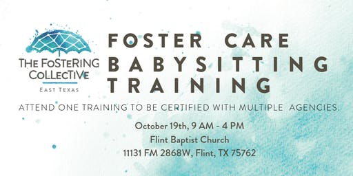 Foster Care Babysitting Training - Oct 19th, 2019