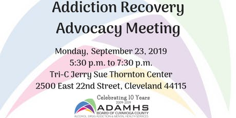 September 23, 2019: Addiction Recovery Advocacy Meeting  tickets