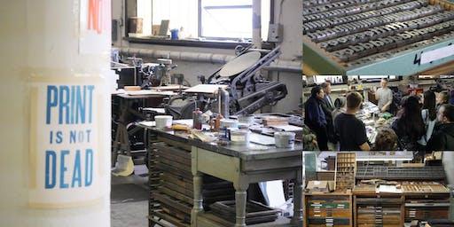 Private Tour & Demo @ Woodside Press, NYC's Largest Letterpress Studio