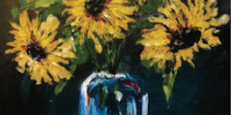 Brews & Brushstrokes - Finger Painting for Grownups - Sunflowers tickets