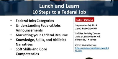 Lunch and Learn: 10 Steps to a Federal Job
