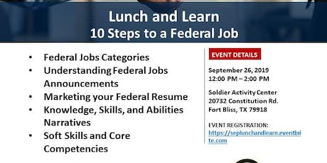 Lunch and Learn: 10 Steps to a Federal Job tickets