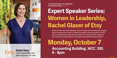 Women in Leadership with Rachel Glaser of Etsy tickets