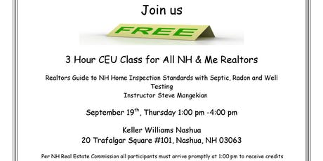 3 FREE CEU Class Sponsored by Alpha Home Inspections tickets