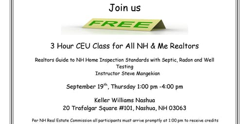 3 FREE CEU Class Sponsored by Alpha Home Inspections