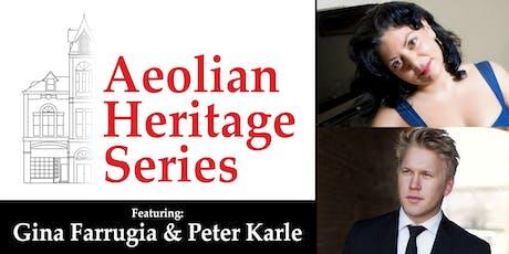 Aeolian Heritage Series: Gina Farrugia & Peter Karle tickets