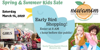 Early Bird Shopping at the NOWAMOM Kids Consignment Sale Spring 2020