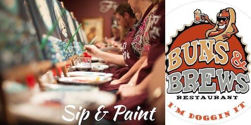 ~Sip~Paint~Sing at Buns and Brews