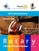 Wine Bottling Party with Rotary HPH