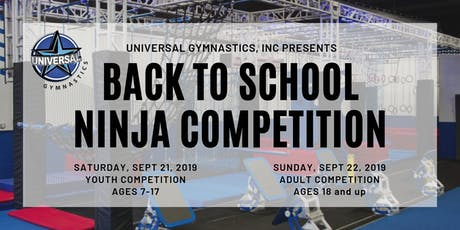 Back to School Ninja Warrior Competition tickets