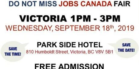 Victoria Job Fair –  September 18th, 2019 billets