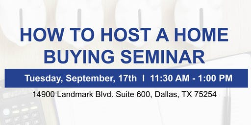How to Host a Home Buying Seminar