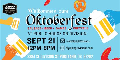 Olympia Provisions Oktoberfest tickets