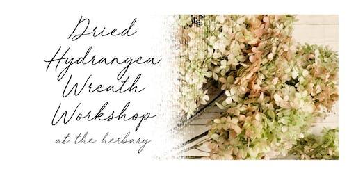 Dried Hydrangea Wreath Class