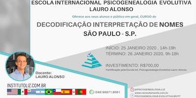 CURSO DECODIFICAÇÃO INTERPRETAÇÃO NOMES SÃO PAULO
