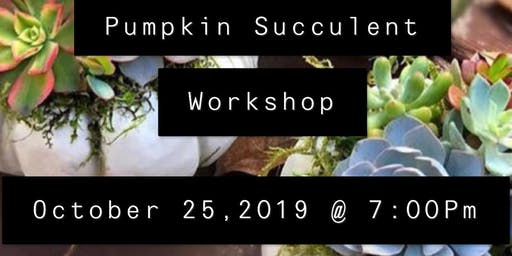 Pumpkin Succulent Class