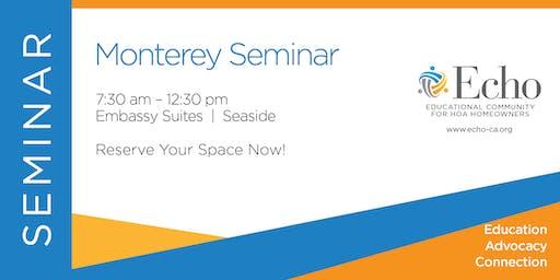 Echo Monterey Seminar