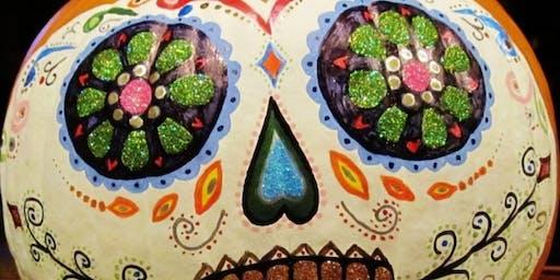 Dia Los Muertos Pumpking Painting