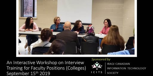 An Interactive Workshop on Interview Training for Faculty Positions (Canadian Colleges)