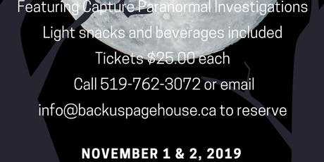 Paranormal Investigation with C.P.I. tickets