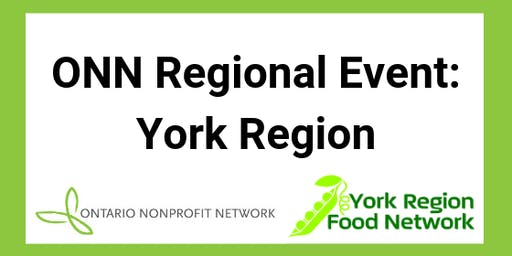 Ontario Nonprofit Network Regional Event: York Region