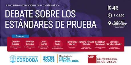 III Encuentro Internacional de Filosofía Jurídica entradas
