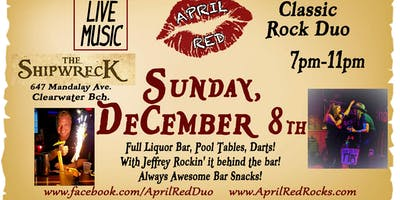 April Red Rockin' The Shipwreck's Christmas Party on Clearwater Beach!
