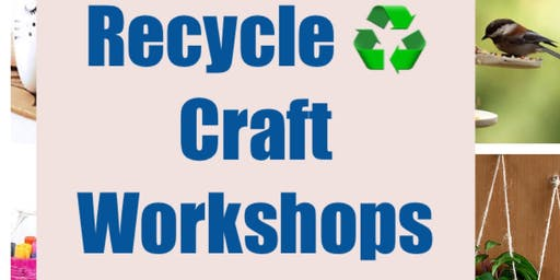 Upcycle ♻︎ Craft Workshops- Make and Take Flower Planter