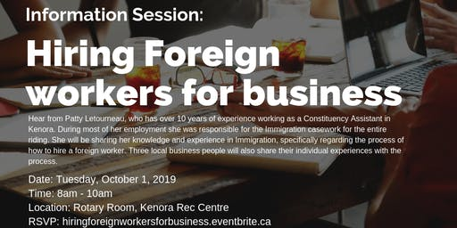 Information Session: Hiring Foreign workers for business