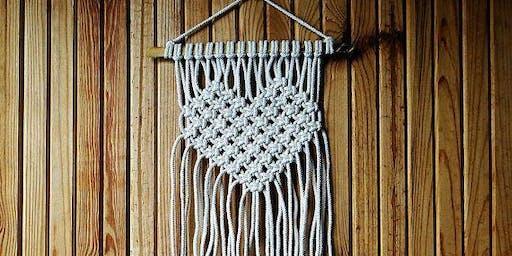 Heart Wall Hanging  Macrame Workshop