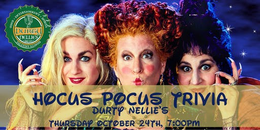 Hocus Pocus Trivia at Durty Nellies