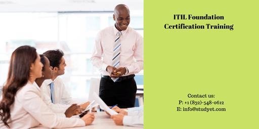 ITIL foundation Online Classroom Training in San Francisco Bay Area, CA