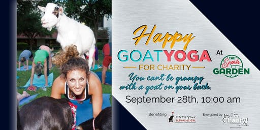 Happy Goat Yoga-For Charity at Sports Garden DFW