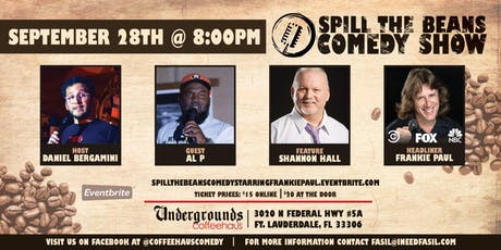 Spill the Beans Stand Up Comedy Show- Frankie Paul (FOX, NBC & Comedy Central) tickets