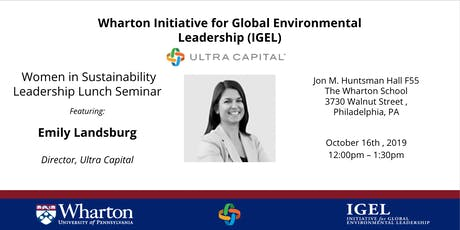 Women in Sustainability Leadership Series featuring Emily Landsburg of Ultra Capital tickets