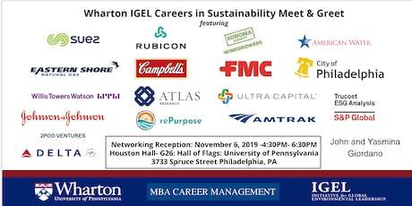 Wharton IGEL Careers in Sustainability Leadership Meet & Greet tickets
