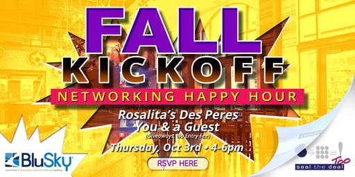 Fall Kickoff - Networking Happy Hour - October 2019