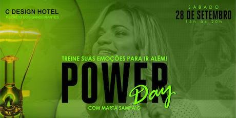 Power Day - Treine suas emoções para ir além! Com Marta Sampaio ingressos