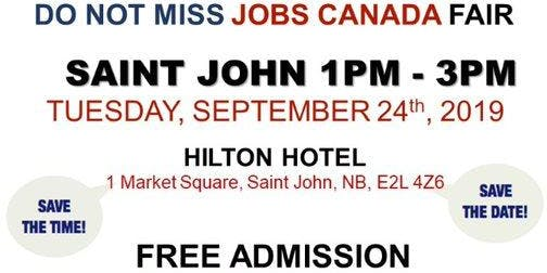 Saint John Job Fair - September 24th, 2019