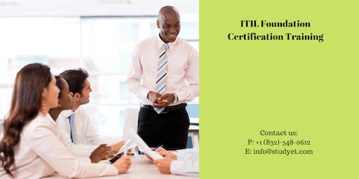 ITIL foundation Online Classroom Training in Visalia, CA