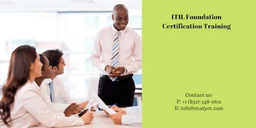 ITIL foundation Online Classroom Training in Youngstown, OH