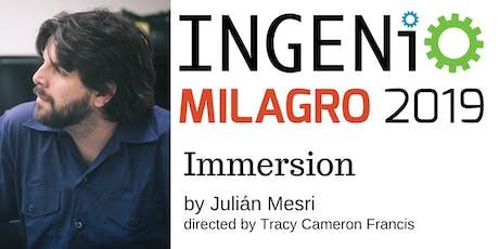 INGENIO: Immersion by Julián Mesri tickets