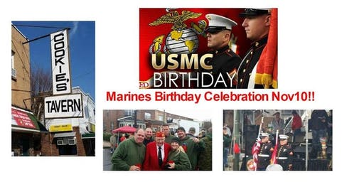 Marines Birthday Celebration at Cookie's Tavern Nov 10, 2019
