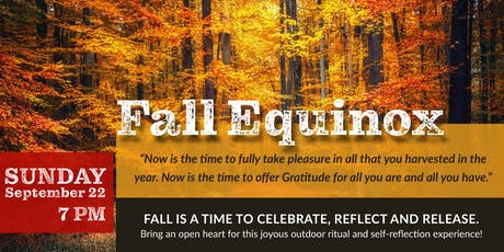 Fall Equinox Celebration - Celebrate, Reflect and Release tickets