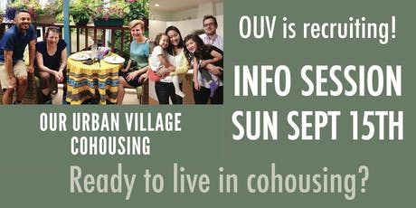 Our Urban Village Info Session - Sept 15th tickets