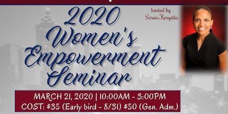 2020 Annual Women's Empowerment Seminar Vendor Registration tickets