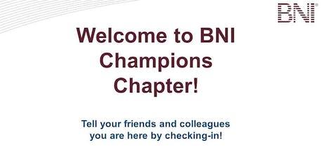 Champions Networking Breakfast  tickets