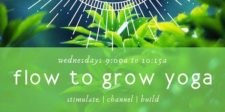 Flow to Grow Yoga tickets